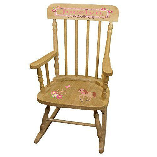 Our MyBambino Personalized Ponies Prancing Wooden Childrens Rocking Chair  Makes A Wonderful Toddler Or Baby Gift. Sturdy Contruction And Beatiful  Design ...