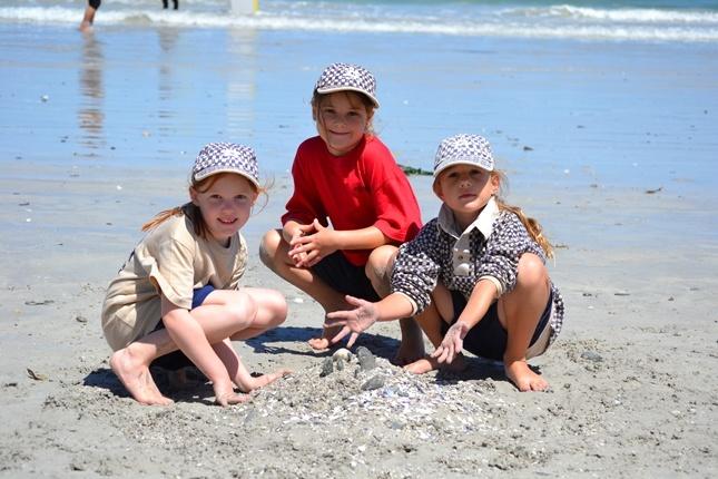 Blouberg Preparatory Grade 1s at the beach.