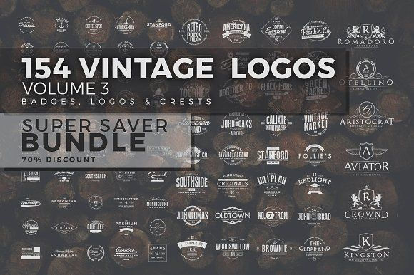 154 Vintage Logos Bundle Vol.3 by Zeppelin Graphics on @creativemarket