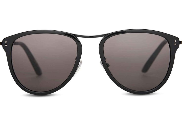 TOMS TOMS Franco Shiny Black Sunglasses with Dark Grey Lens. #toms #