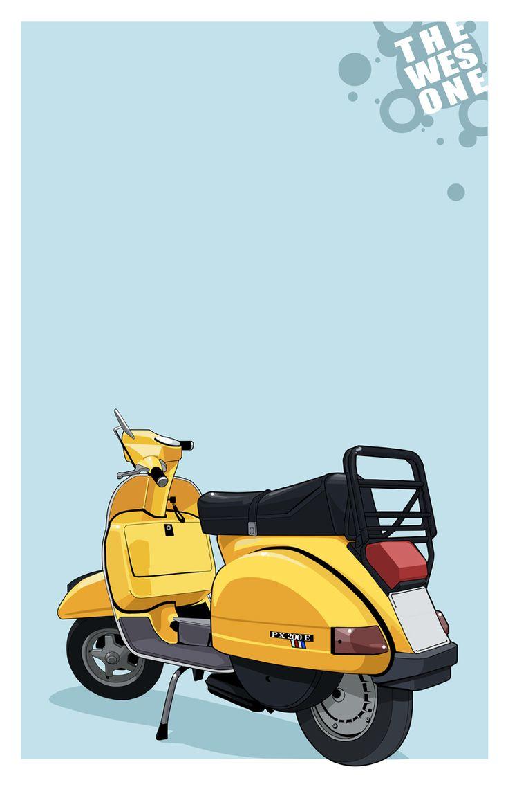 Modern Vespa : 2013 Vespa GTS300 Super Colours? |Pastel Yellow Vespa