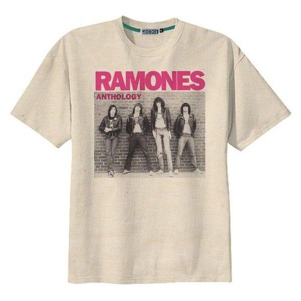 Retro Ramones Punk Rock US Band T-Shirt Tee Organic Cotton Vintage Loo ❤ liked on Polyvore featuring tops, t-shirts, distressed vintage tee, punk rock t shirts, vintage punk t shirts, pink t shirt and vintage tees