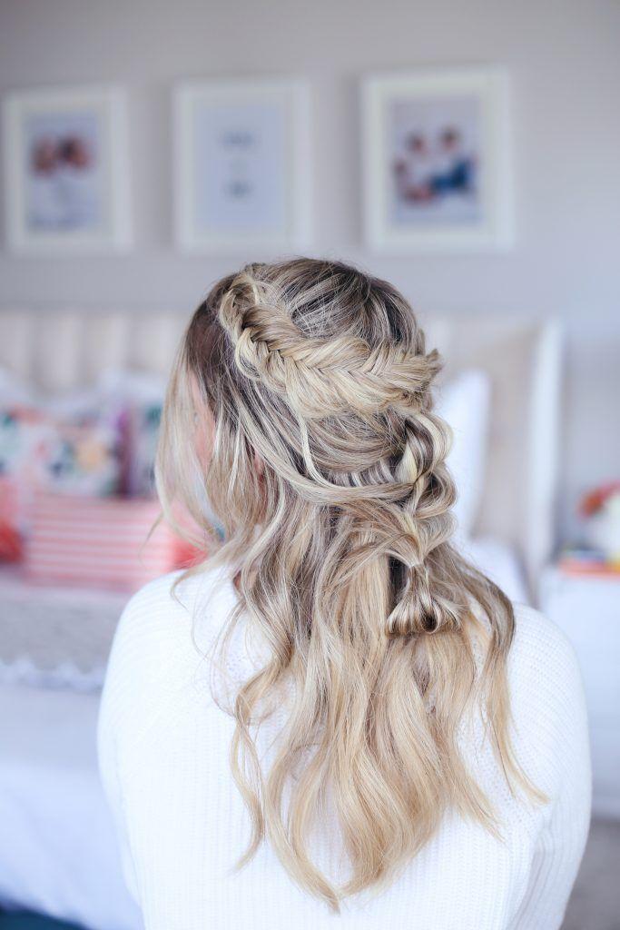 Mischborte halb hoch | Haar styling, Süße mädchenfrisuren ...