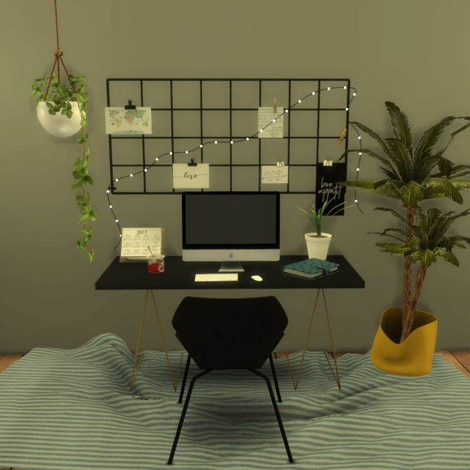 Ceiling Lamp The Sims 4: Wall Grid With String Light At Leo Sims • Sims 4 Updates