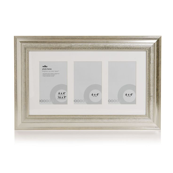 Wilko Dorchester  Photo Frame Silver 3x6x4in