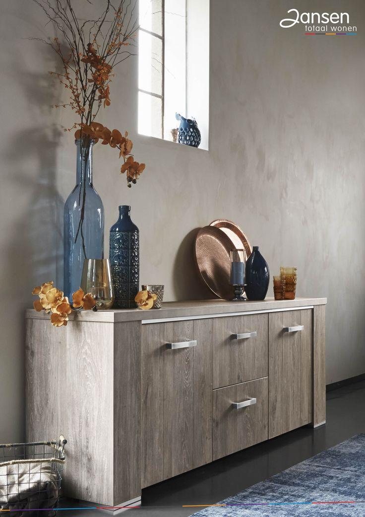 #prontowonen #droomwoonkamer    Dressior landelijk blauw koper :)  Francisco - Pronto Wonen | Bij Jansen