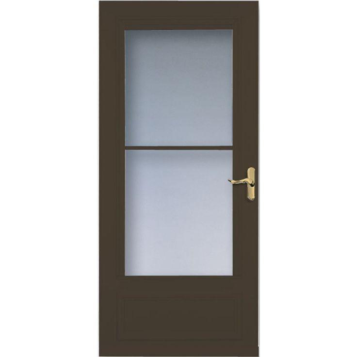 LARSON Savannah Brown Mid-View Wood Core Storm Door (Common: 32-in x 81-in; Actual: 31.75-in x 79.875-in)