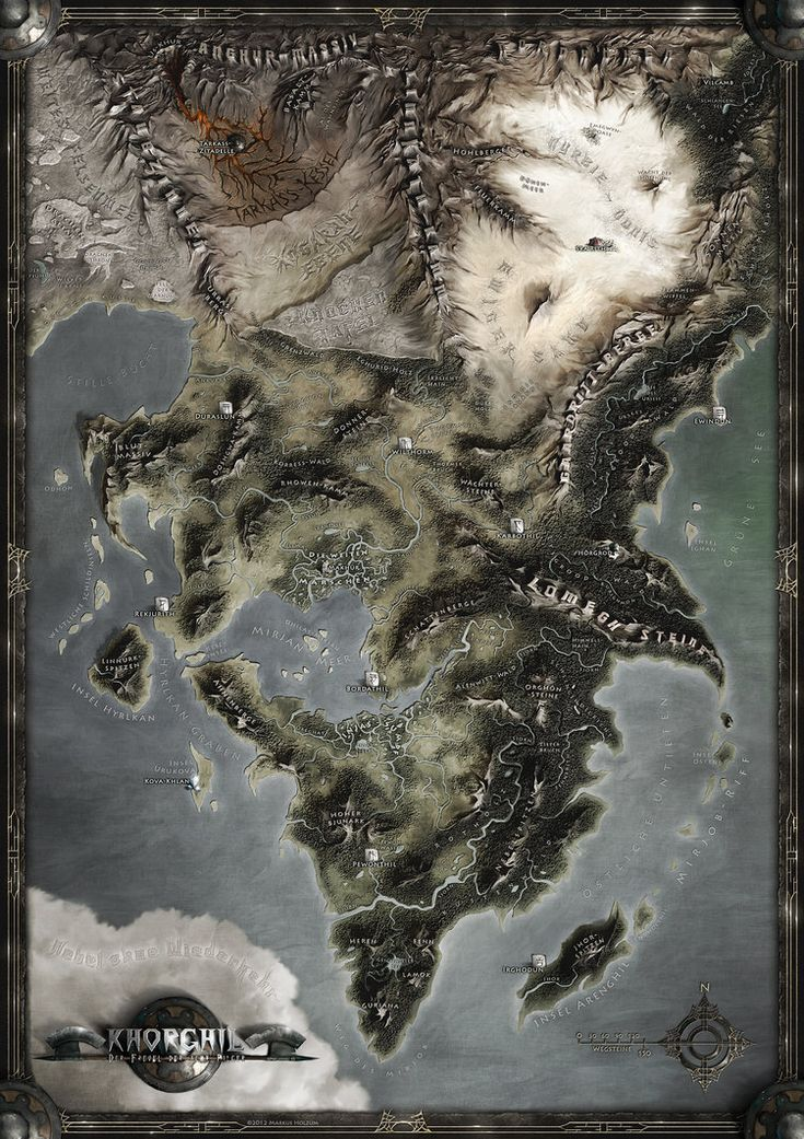 KHORGHIL FANTASY MAP by *Khorghil on deviantART