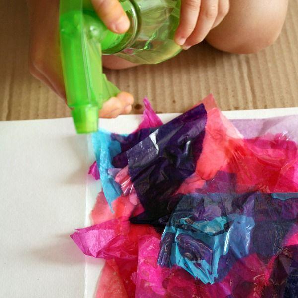 Bleeding Tissue Paper Art