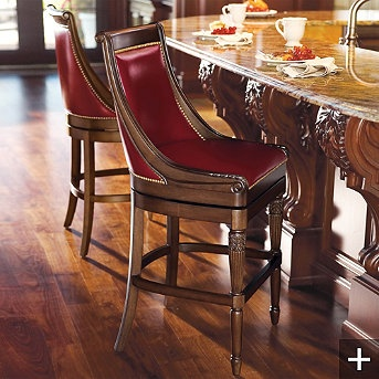 Kent Bar Stool Handcrafted of solid hardwood Generously scaled with substantial inside seat depth Premium top-grain leather or fabric upholstery ... & 35 best bar stools images on Pinterest | Bar stools Counter ... islam-shia.org