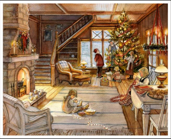 Christmas Paintings by Famous Artists | Trisha Romance Gallery - fine art ltd edition prints, plates & giclees