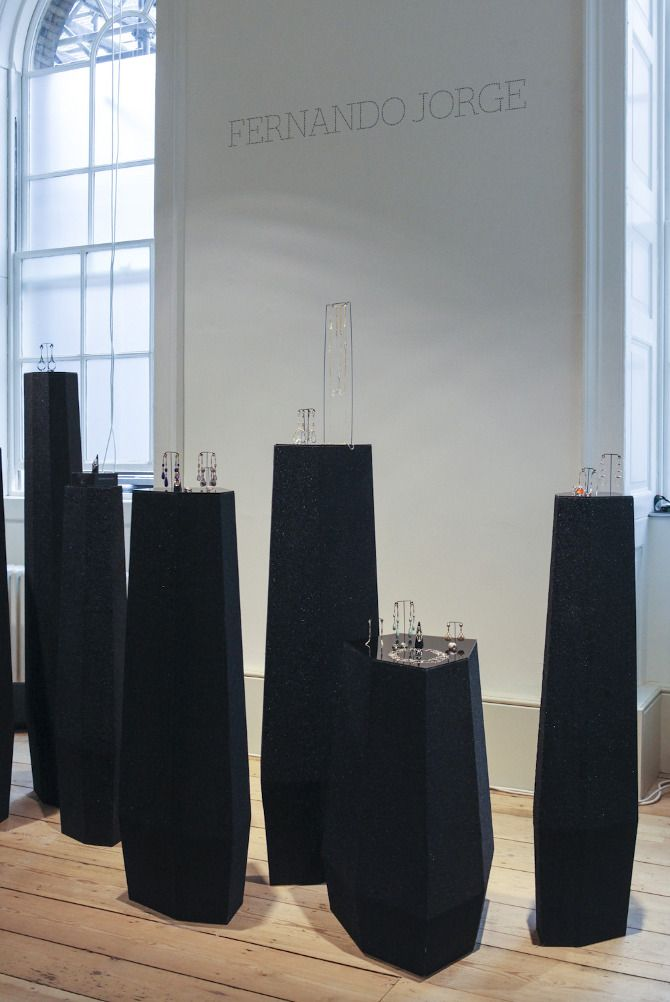 Rock Vault jewelry exhibition display - Fotis Evans