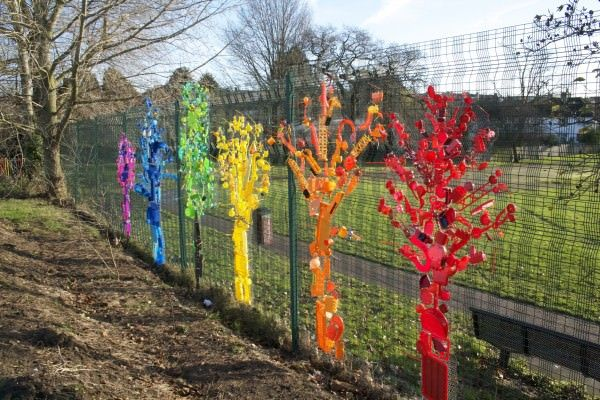 Rainbow Trees From Up-cycled Plastics