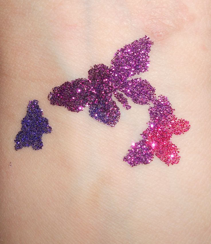 Butterflies glitter tattoo