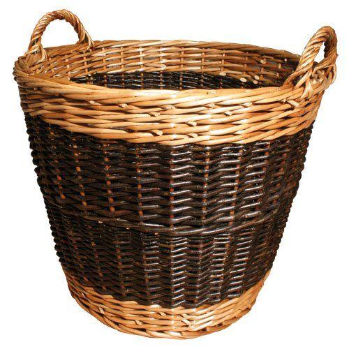 JVL Log Basket Two Tone Willow 60 x 50 cm: Amazon.co.uk: Kitchen & Home