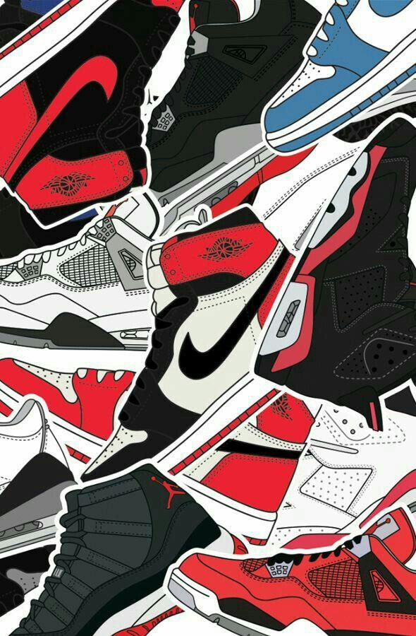 Pin By Allen Buckingham On Sneakerhead Nike Wallpaper Shoes Wallpaper Jordan Logo Wallpaper