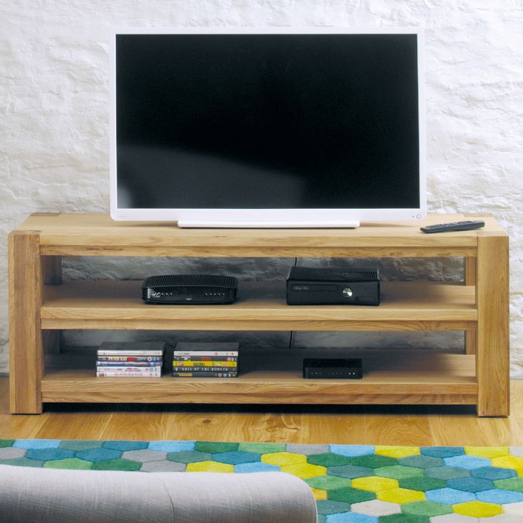 """Baumhaus Aston Oak TV Stand for TVs up to 72"""""""