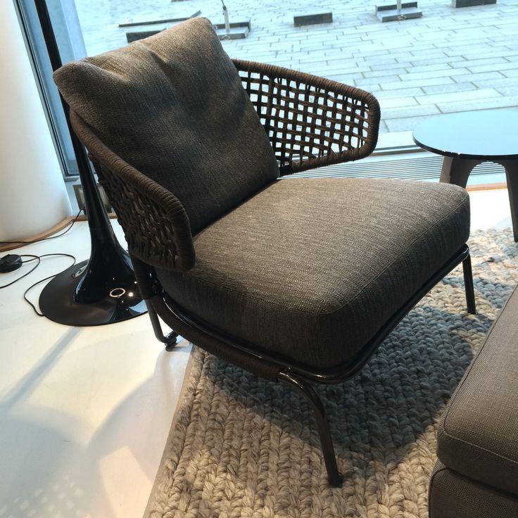 Fin og hyggelig lænestol fra Minotti.