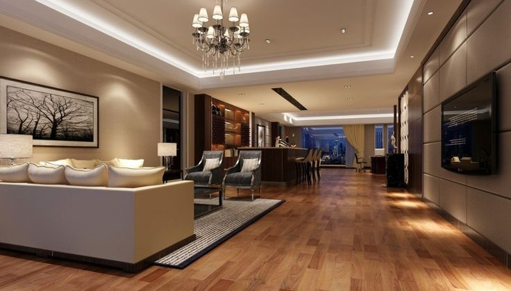 I like this reception area. Well designed lighting creates a comfortable glow and rich ambience.