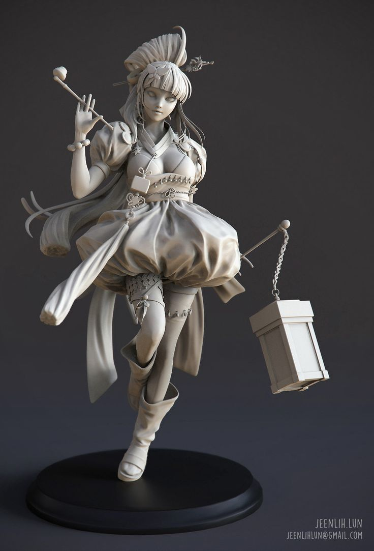 Gisaeng 3D Art by JEEN LIH LUN JEEN LIH LUN now a professional character artist in game industry wit