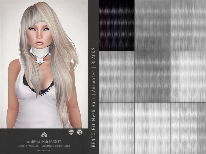 (r)M Hair №.50'17 (Bento Hair +Animated) [Kitely Market]