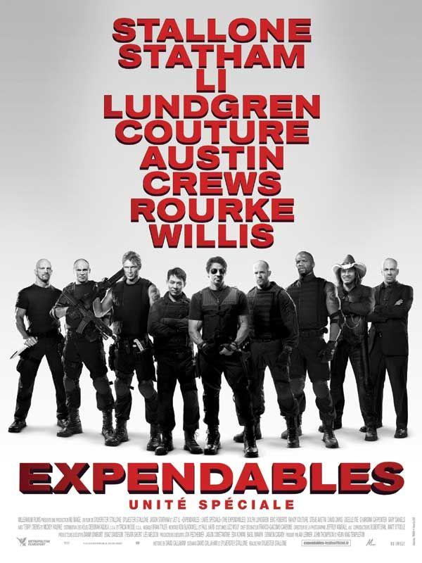 Expendables : unité spéciale est un film de Sylvester Stallone avec Sylvester Stallone, Jason Statham. Synopsis : Ce ne sont ni des mercenaires, ni des agents secrets. Ils choisissent eux-mêmes leurs missions et n'obéissent à aucun gouvernement. Ils ne le font ni