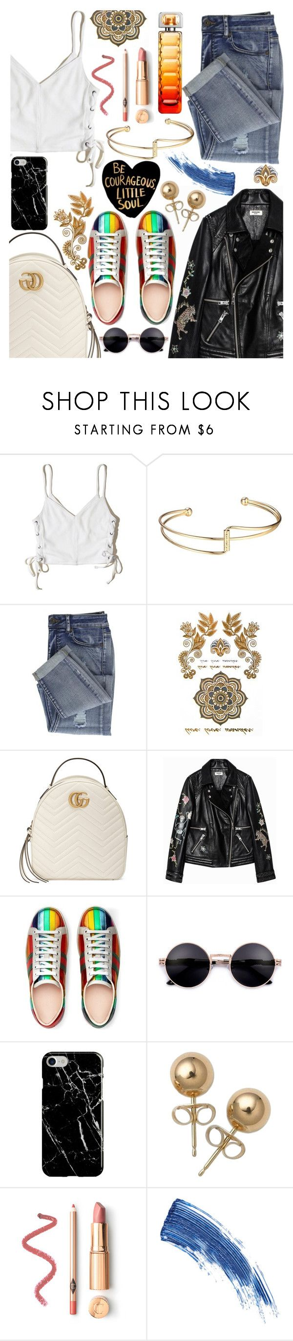 """""""Rock Bottom (Hailee Steinfeld)"""" by superswimmerca ❤ liked on Polyvore featuring Hollister Co., Gucci, Zadig & Voltaire, Recover, Bling Jewelry, Eyeko and HUGO"""