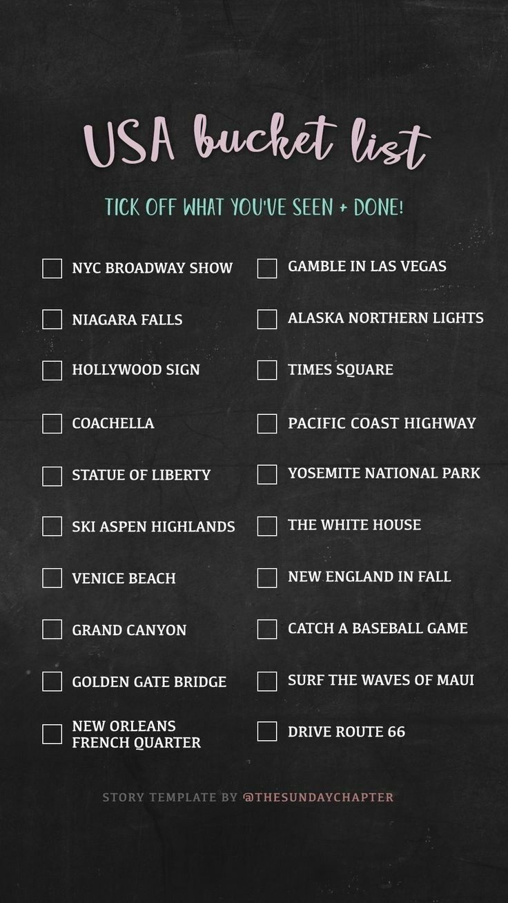 usa bucket list template from the sunday chapter social media in