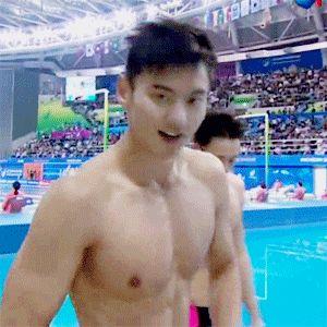 New trending GIF tagged 2015 shirtless swimming ning zetao...