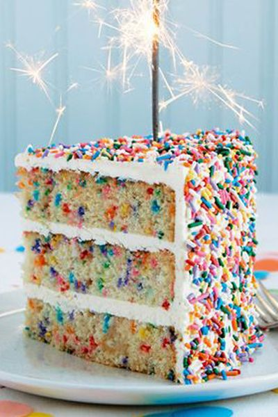 Best 20 Rainbow Sprinkle Cakes Ideas On Pinterest
