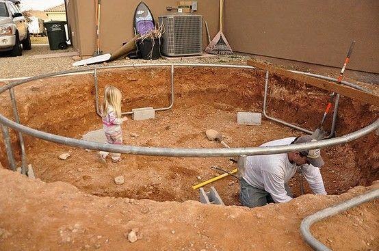 In-ground trampoline tutorial.... Such a good idea!