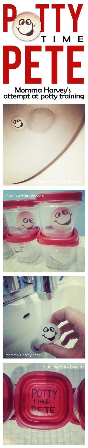 A fun, home-made potty training idea. It's been successful so far! :D: