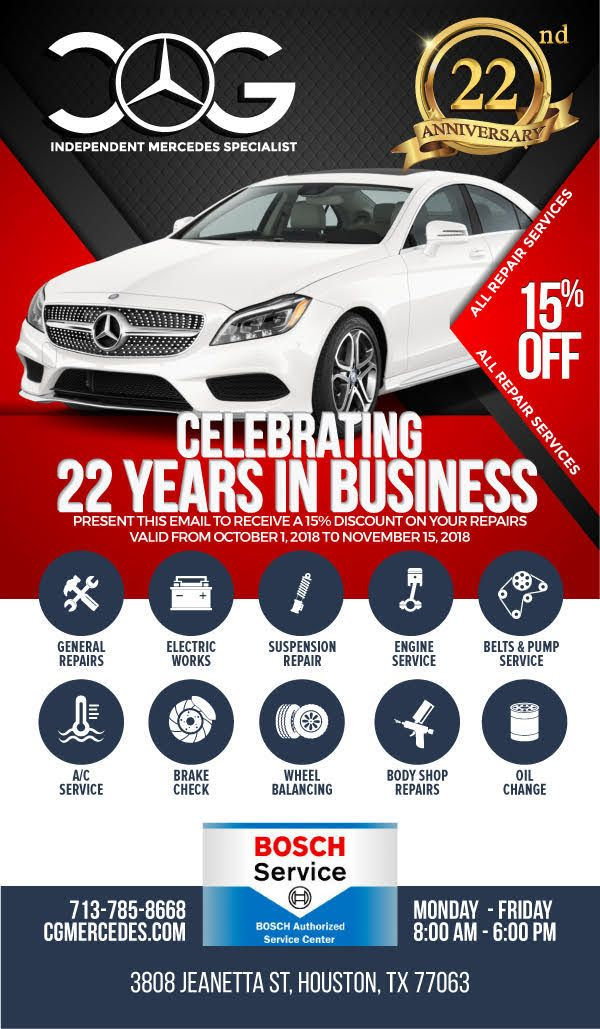 We Feel Very Happy To Share You That We Have Successfully Completed 22 Years In Our Business On This Celebration Auto Body Repair Car Repair Service Mercedes