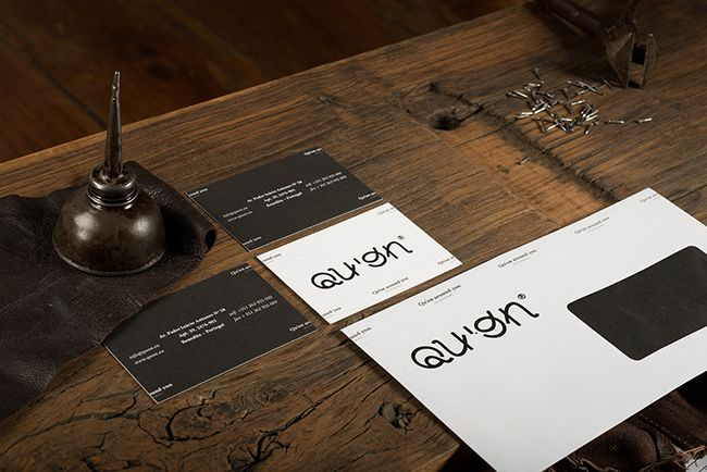 branding  quon business cards envelope