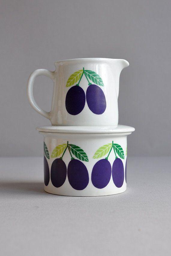 Pomona Jar & Creamer Raija Uosikkinen, Arabia Finland