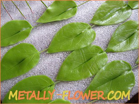 Лепка листьев в технике керамическая флористика