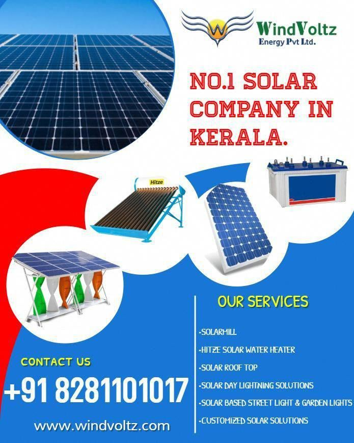 As The Leading Solar Companies In Kerala Windvoltz Offers Cost Effective Solar Systems We Offer Complete Solar Sy In 2020 Solar System Design Solar Solar Solutions