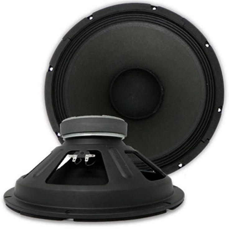 PAIR Seismic Audio 15 PA/DJ RAW WOOFER SPEAKER 500 W.