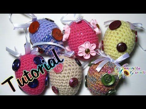 Tutorial Uova di Pasqua all'uncinetto   Amigurumi   How to crochet Easte...