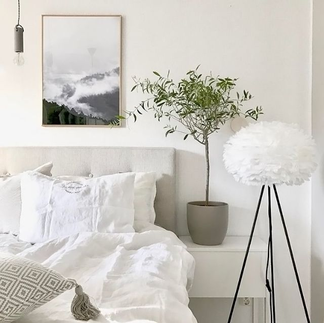 Love this gorgeous bedroom of @mz.interior. Vita Eos lamp available online at www.istome.co.uk