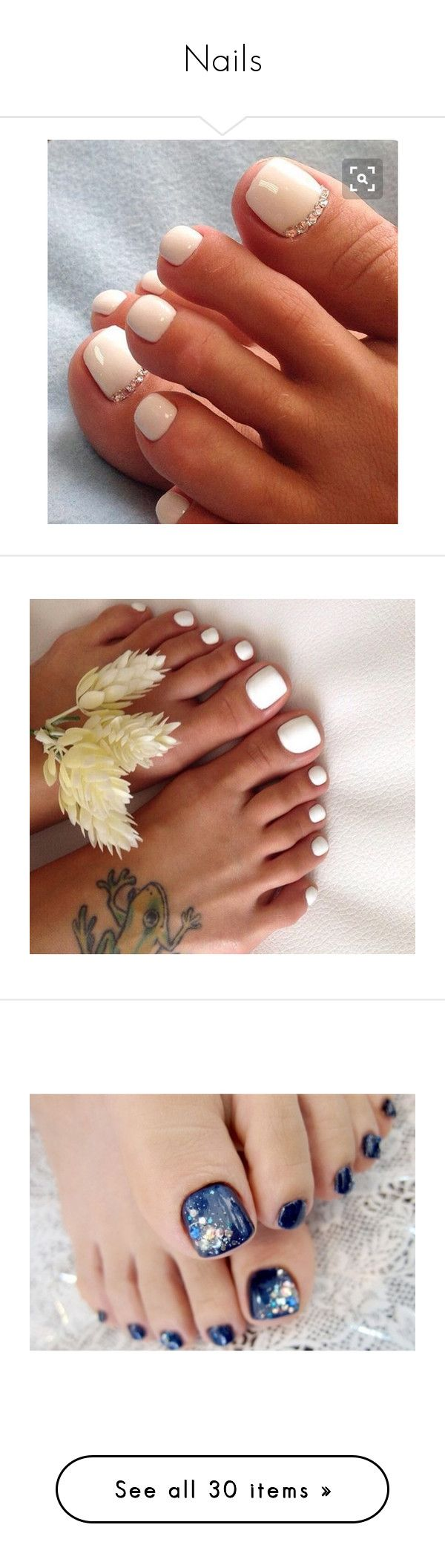 """""""Nails"""" by danielxox ❤ liked on Polyvore featuring nails, nail polish, makeup, accessories, pedicures, beauty products, nail care, nail treatments, aesthetic and pictures"""