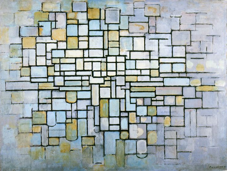 Mondrian, Piet | Composition in Blue, Gray and Pink
