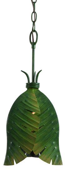 Banana Leaf Tropical Pendant light  #beachhouse #coastaldecor
