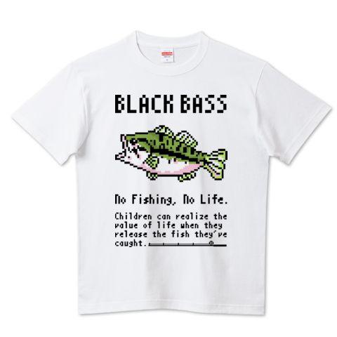 (釣りざんまい)ドット絵のブラックバス | デザインTシャツ通販 T-SHIRTS TRINITY(Tシャツトリニティ)