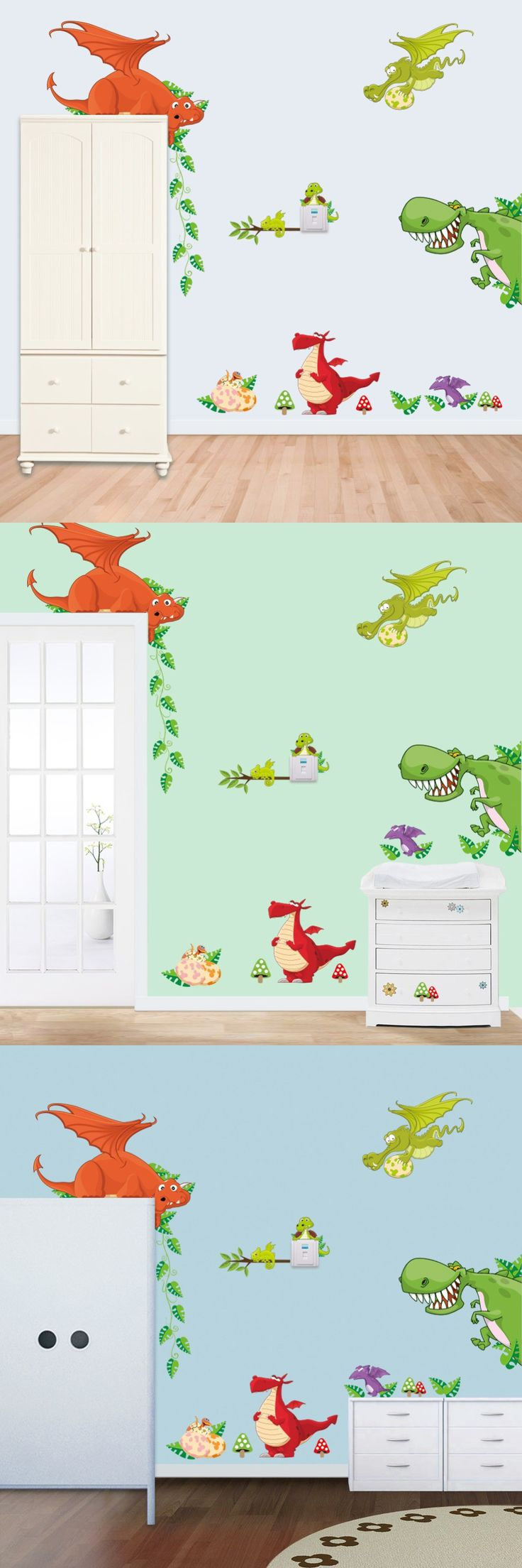 33 best deco paredes images on pinterest wall stickers home and cute colorful pvc removable dinosaur wall stickers home decor for home decoration adesivo de parede