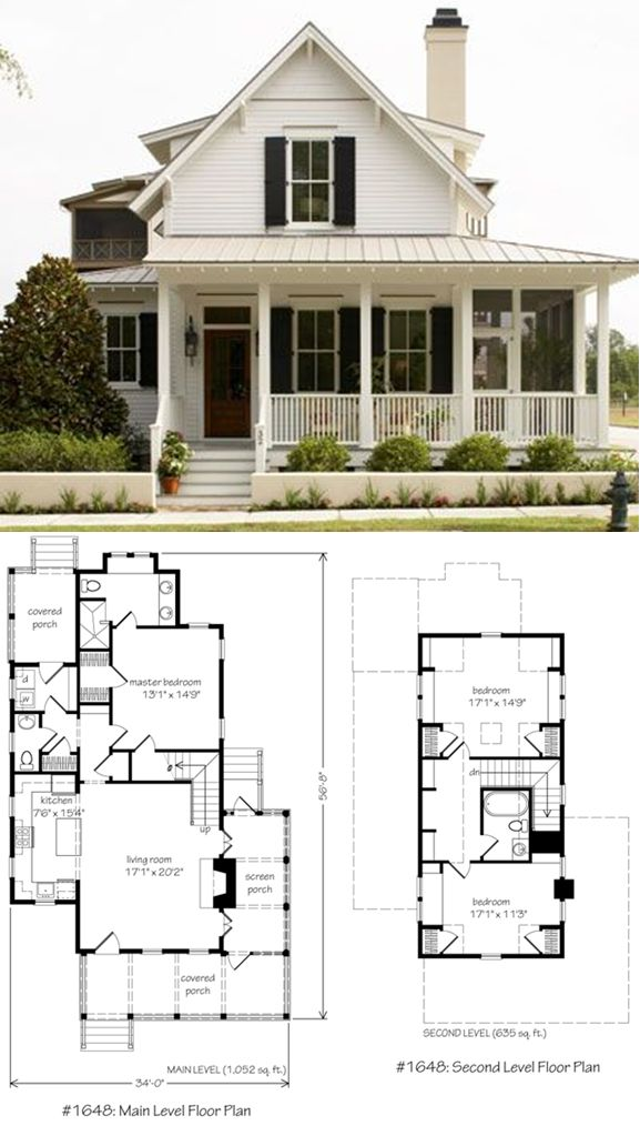 Habersham sugarberry cottage cottage floorplans for Farmhouse cottage house plans