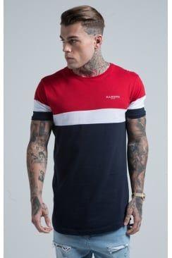 Illusive London Sport Tee – Red, White & Navy