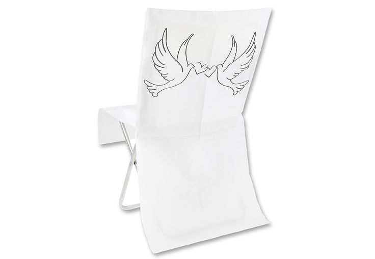 COUVRE CHAISE BLANCHE IMPRIME COLOMBE (10)