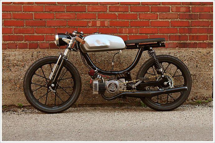 "Revdub's Puch Moped - ""GeneralMayhem"" - Pipeburn - great wheels"