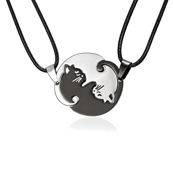 DOUBLE SIDE BLACK  HORSE PONY PENDENT NECKLACE 18 inch GIFT BOX BIRTHDAY PARTY